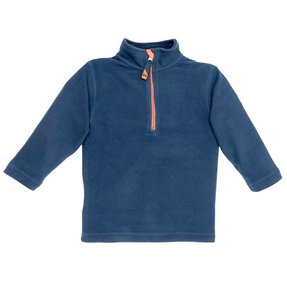 Double Diamond Marmot Half Zip Fleece Mid-Layer (Little Kids') - Navy/Orange