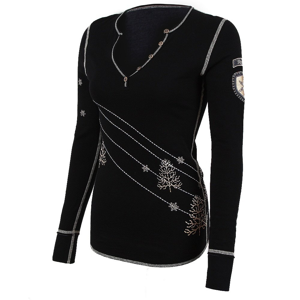 Alp-N-Rock Traverse Henley Shirt (Women's) - Black