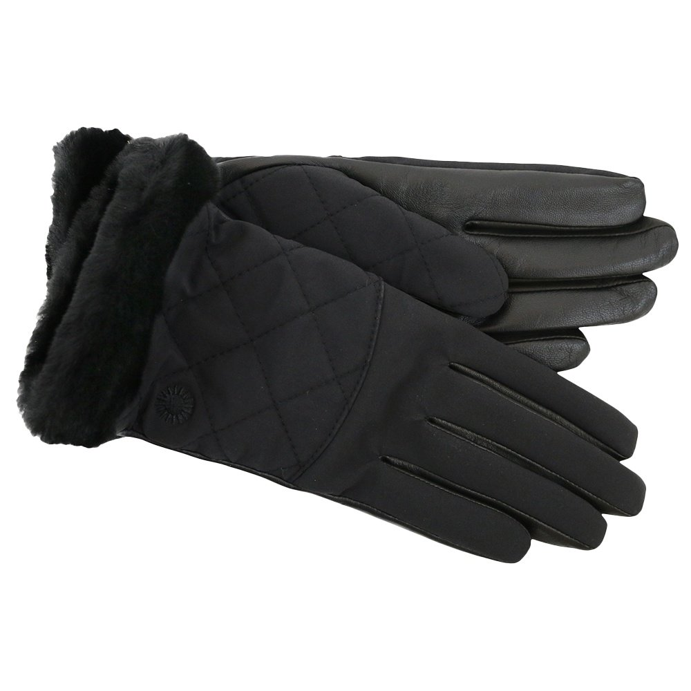 UGG Quilted Smart Winter Glove with Fur (Women's) -