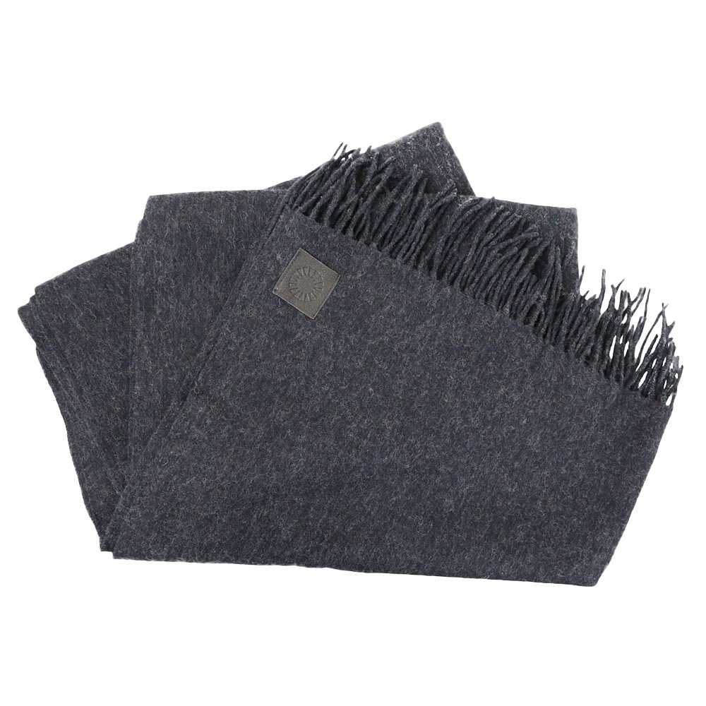 UGG Oversized Woven Scarf (Men's) - Graphite Heather