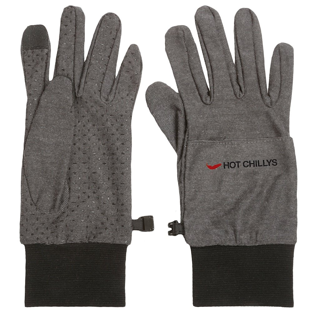 Hot Chillys Active Heat Gloves Liner (Adults') - Charcoal/Gray