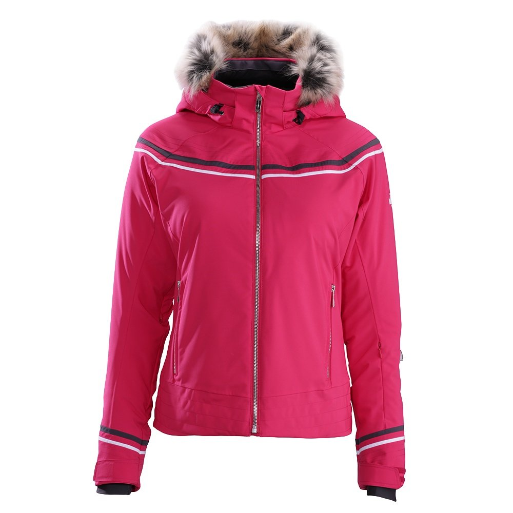 Descente Charlotte Jacket (Women's) - Crimson Pink/Anthracite Gray/Super White