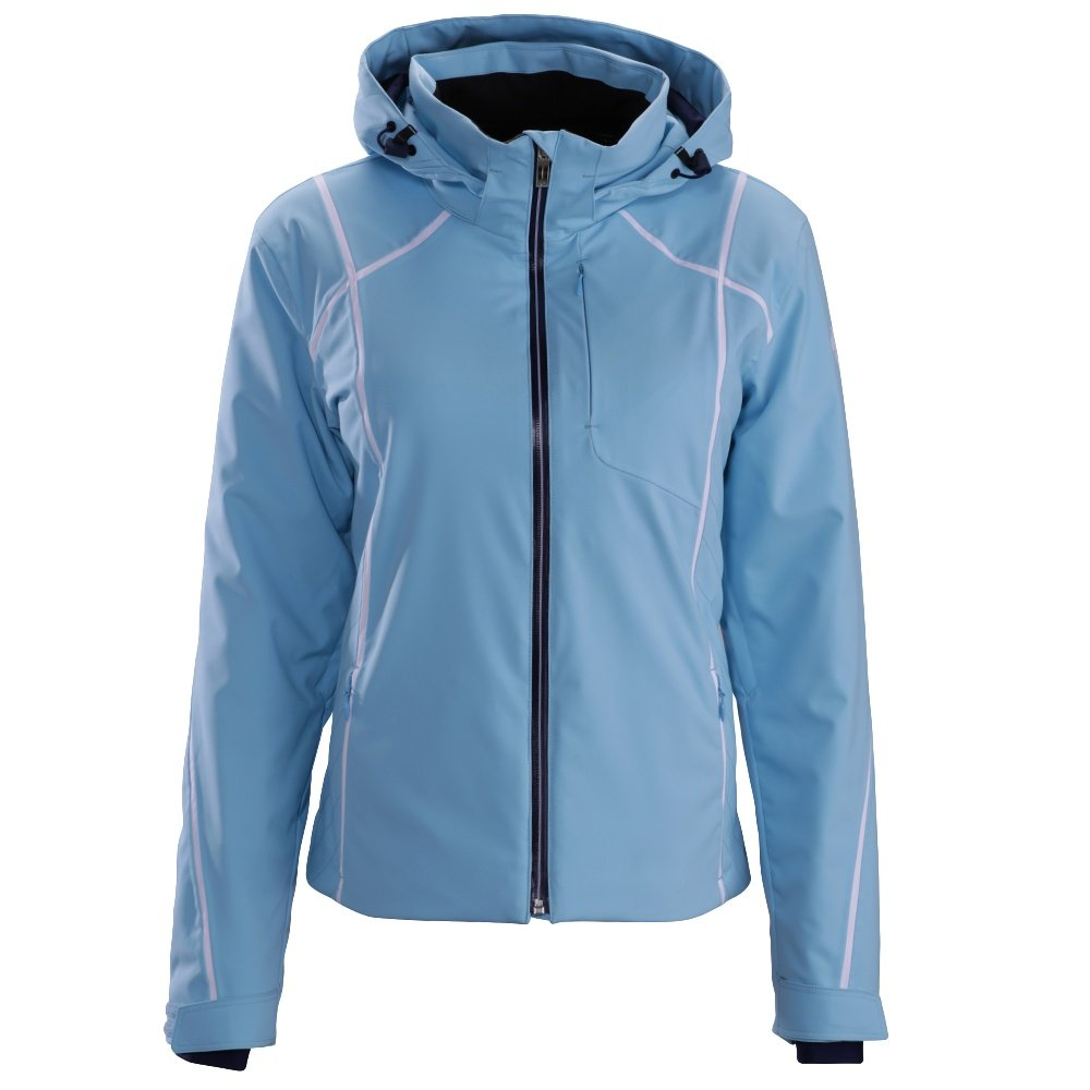 Descente Bree Jacket (Women's) - Ice Blue/Super White/Dark Night