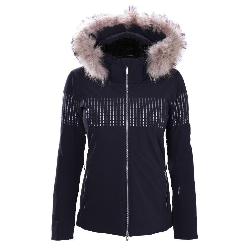 Descente Reagon Jacket with Real Fur (Women's) - Black