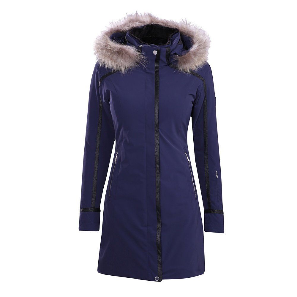 Descente Ruby Coat with Real Fur Trim (Women's) - Dark Night