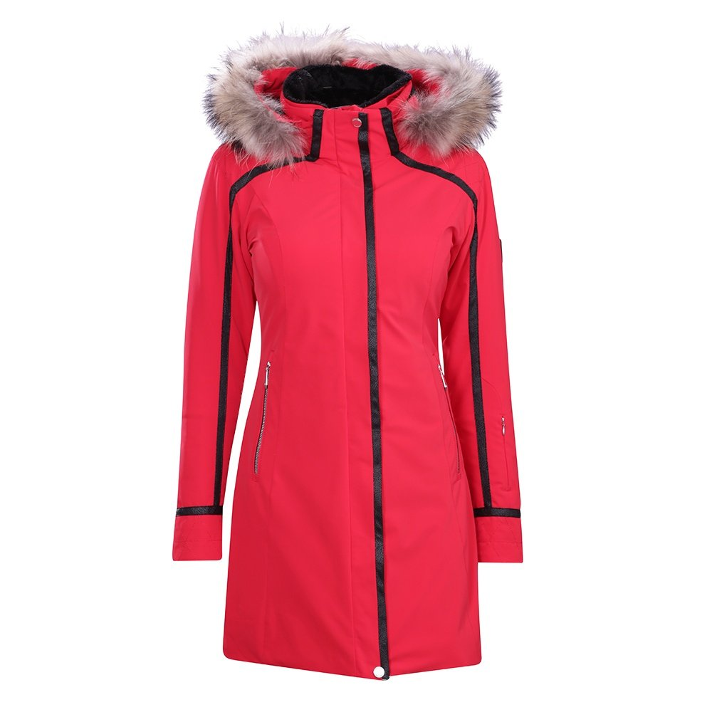 Descente Ruby Coat with Real Fur Trim (Women's) - Electric Red