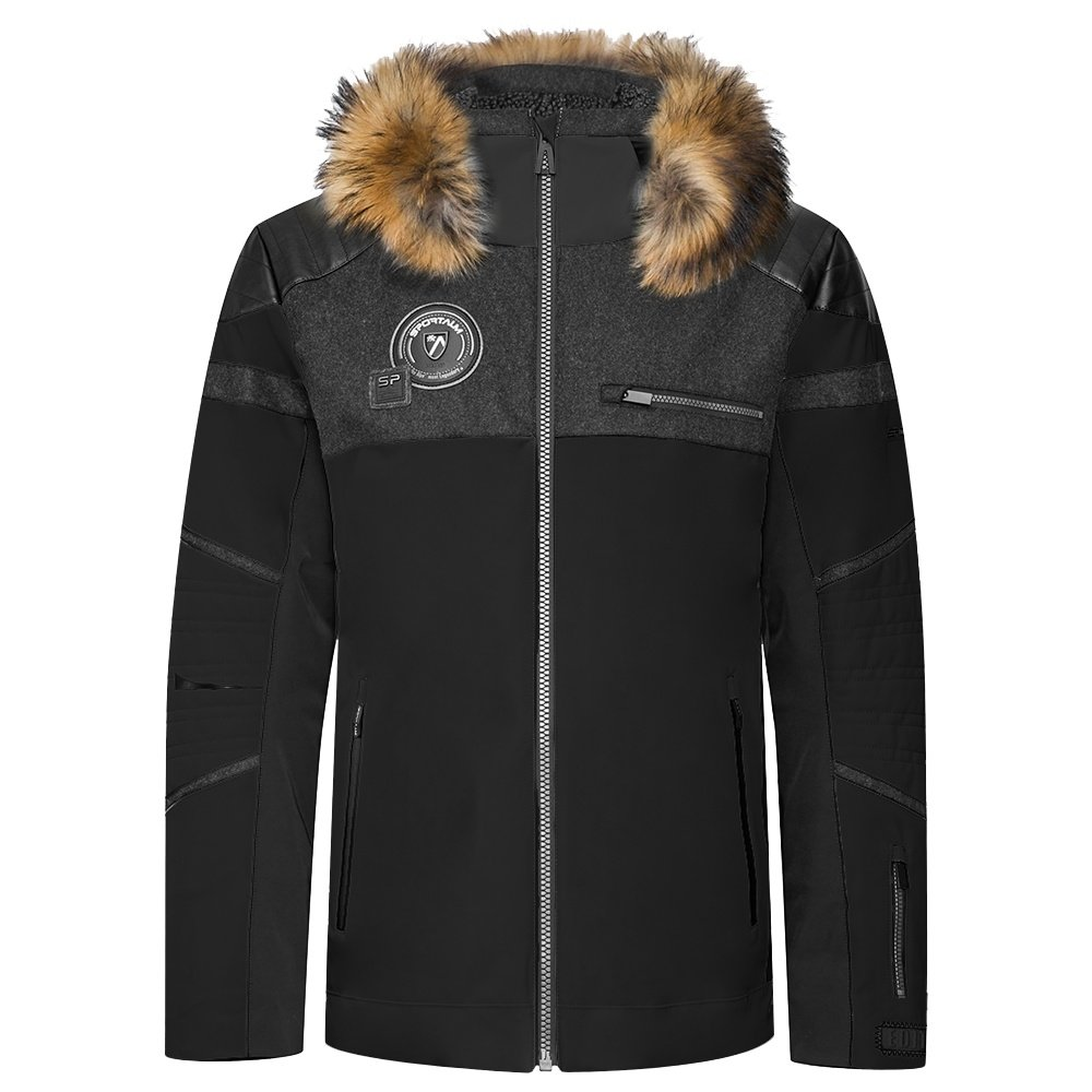 Sportalm Grace Insulated Ski Jacket with Fur (Men's) - Black
