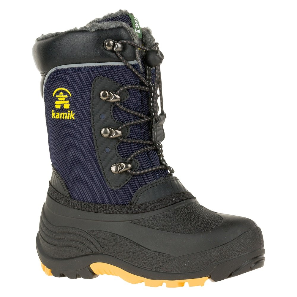 Kamik Luke Boots (Boys') - Navy/Yellow