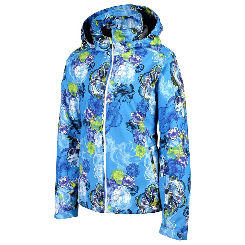 Karbon Emerald Ski Jacket (Women's) - Cayman Blue Print