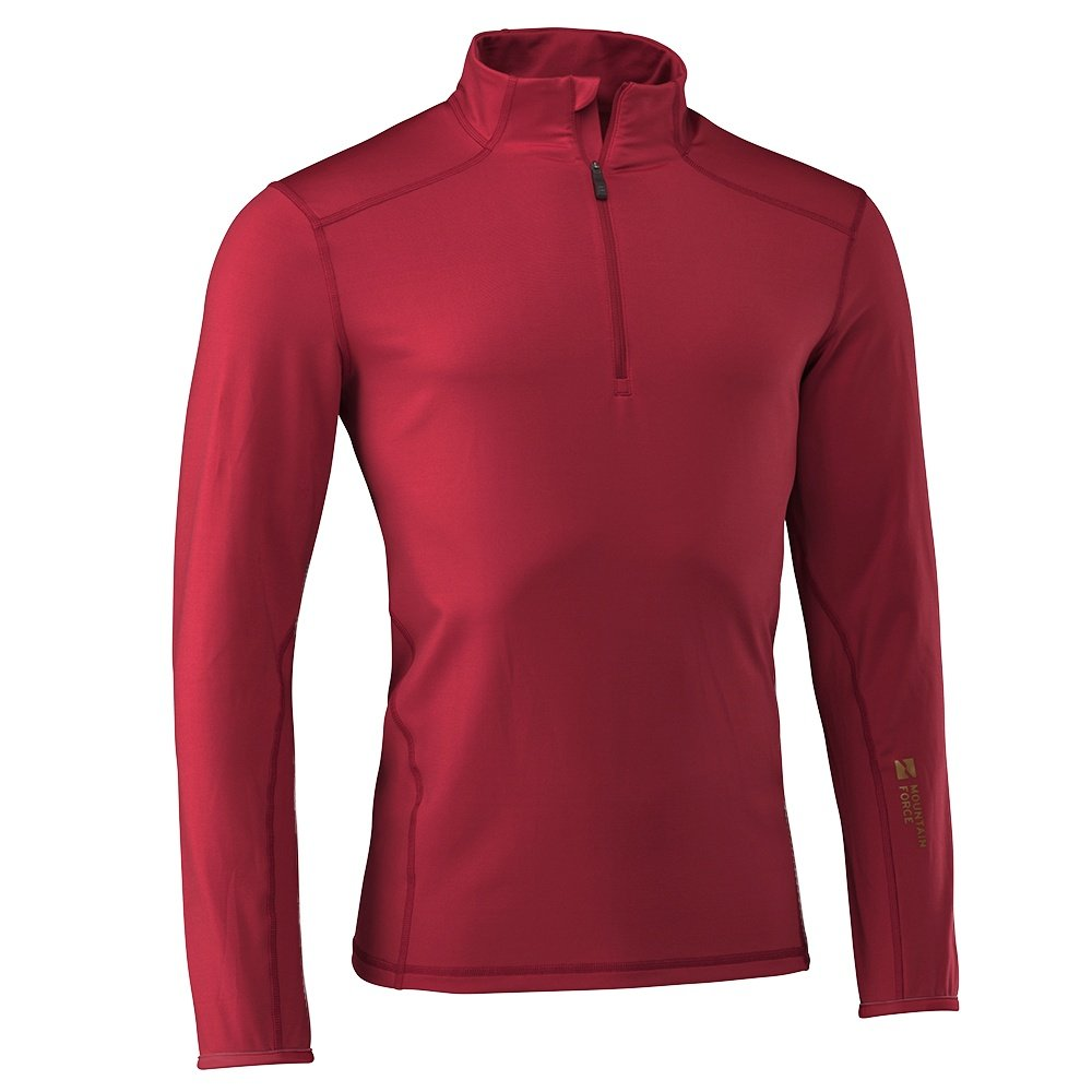 Mountain Force Grid Turtleneck Mid-Layer (Men's) - Chili