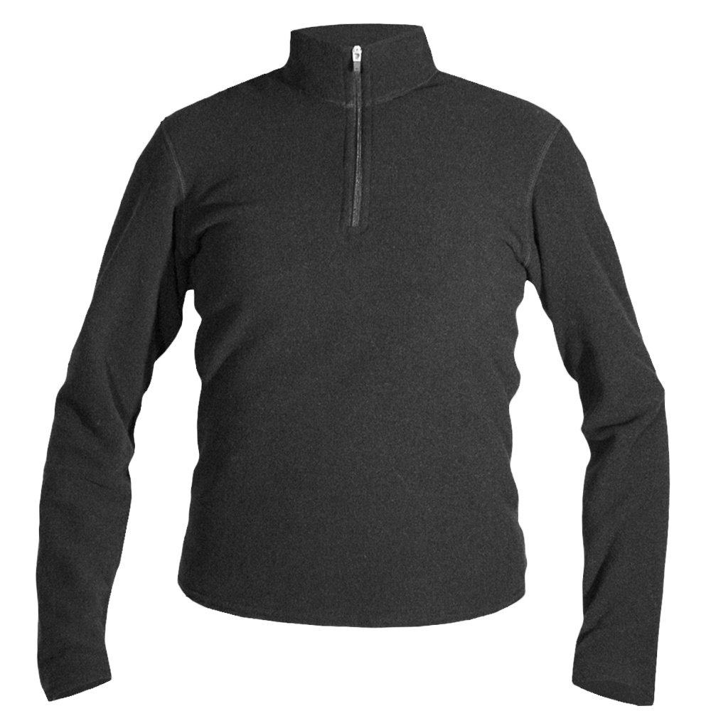 Hot Chillys Fleece Zip-T Baselayer Top (Kids') - Black