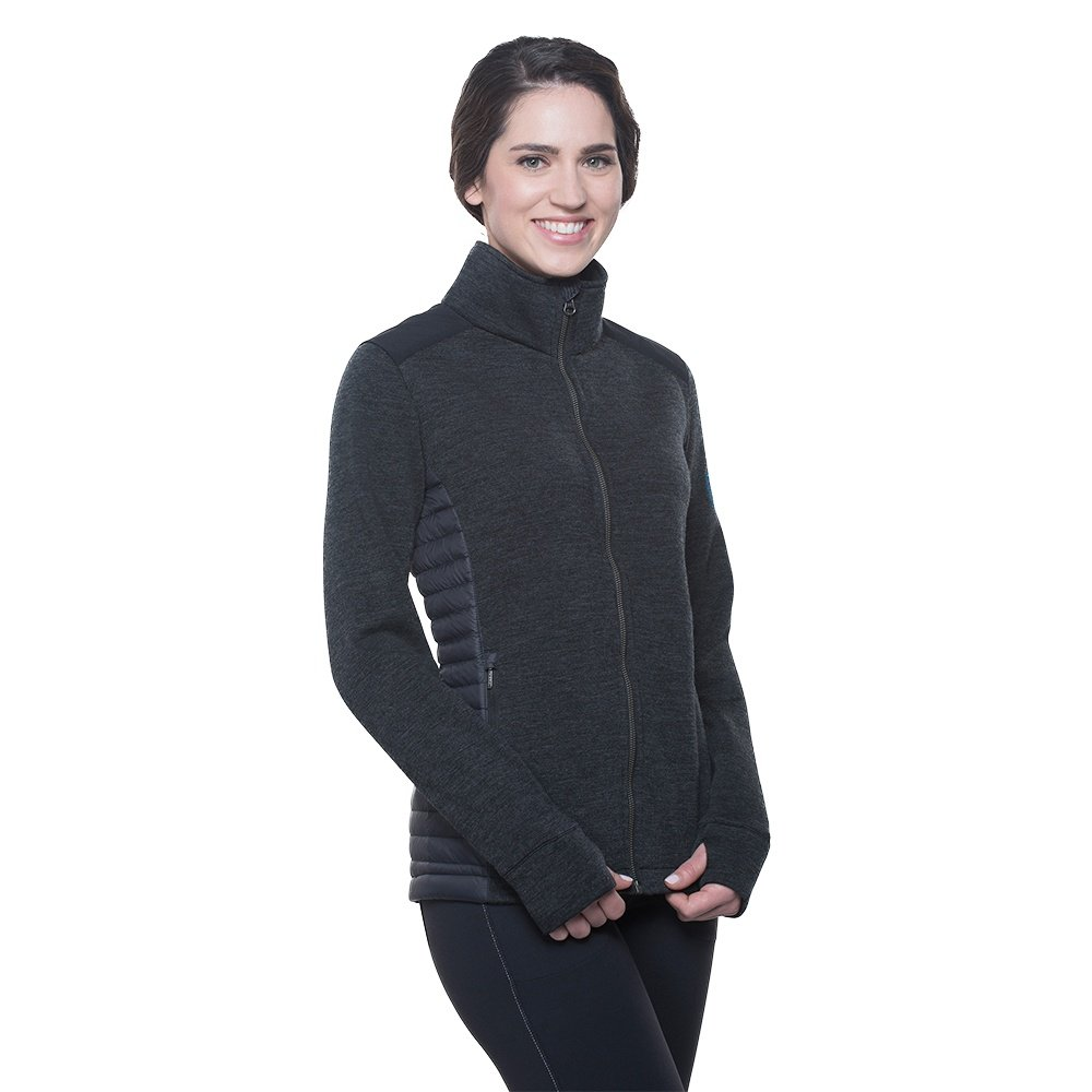 Kuhl Alskar Full Zip Sweater (Women's) - Pavement
