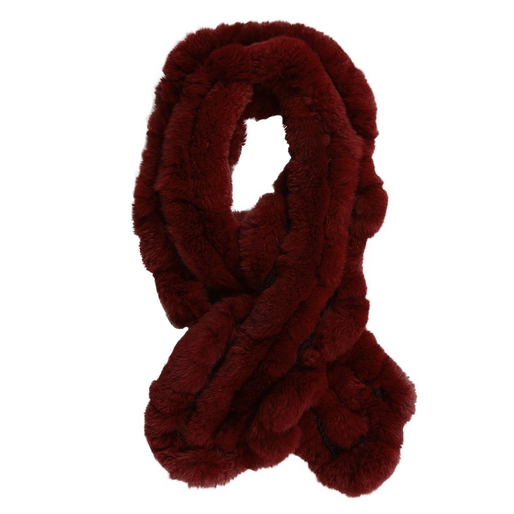 Peter Glenn Rabbit Pull Through Scarf - Red