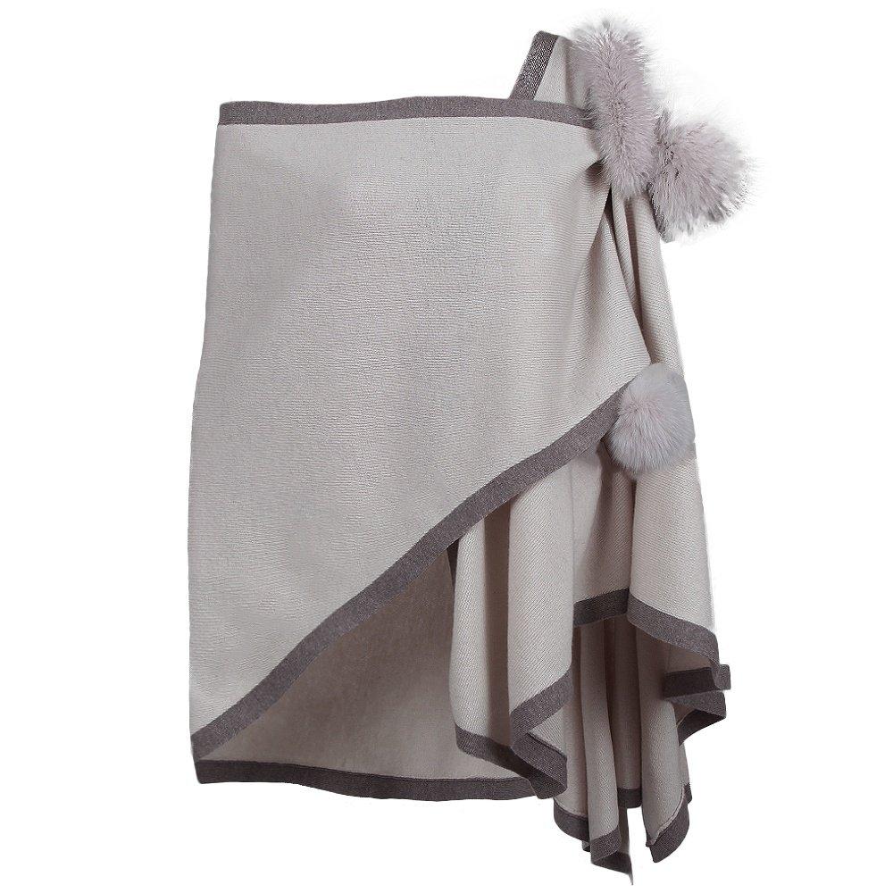 Peter Glenn Two Tone Knit Wrap - Ivory/Beige