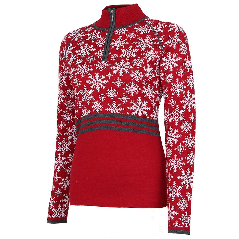 Krimson Klover Eva Maria 1/4-Zip Sweater (Women's) - Red