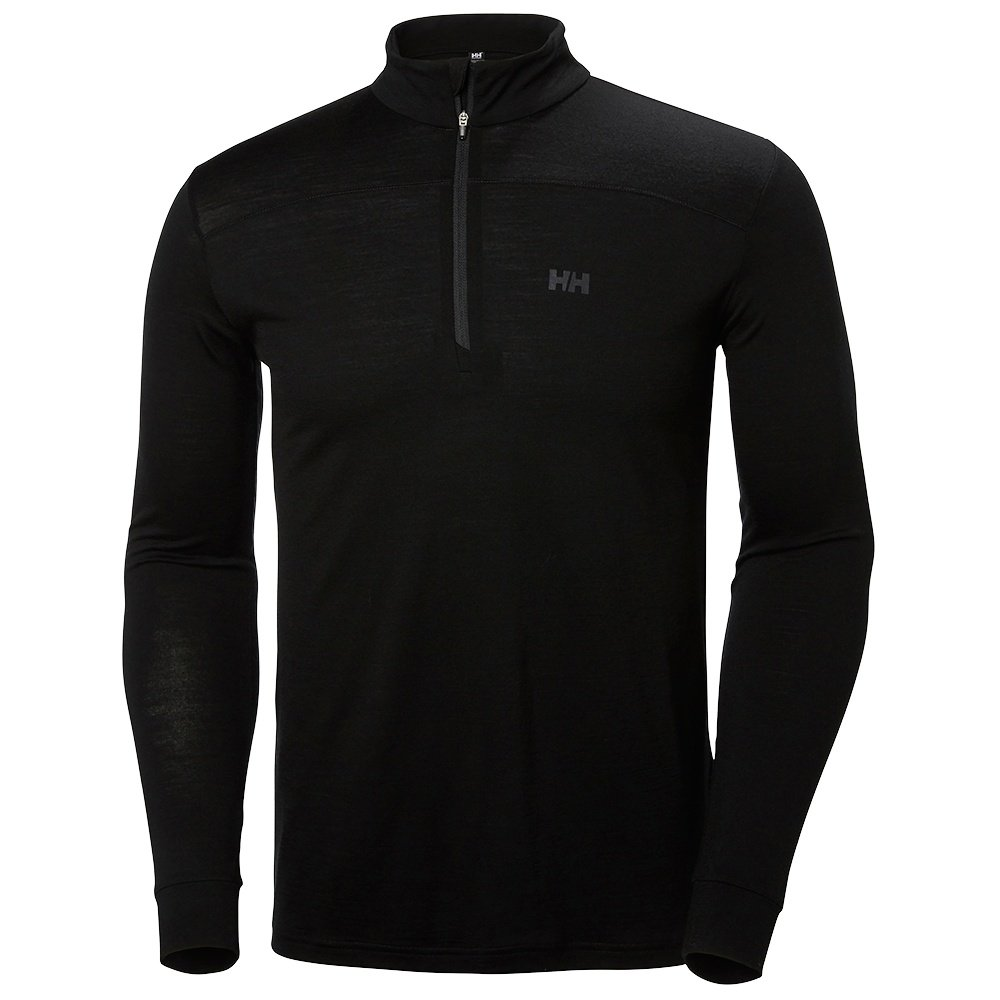 Helly Hansen Merino Mid 1/2 Zip Baselayer (Men's) - HH Black