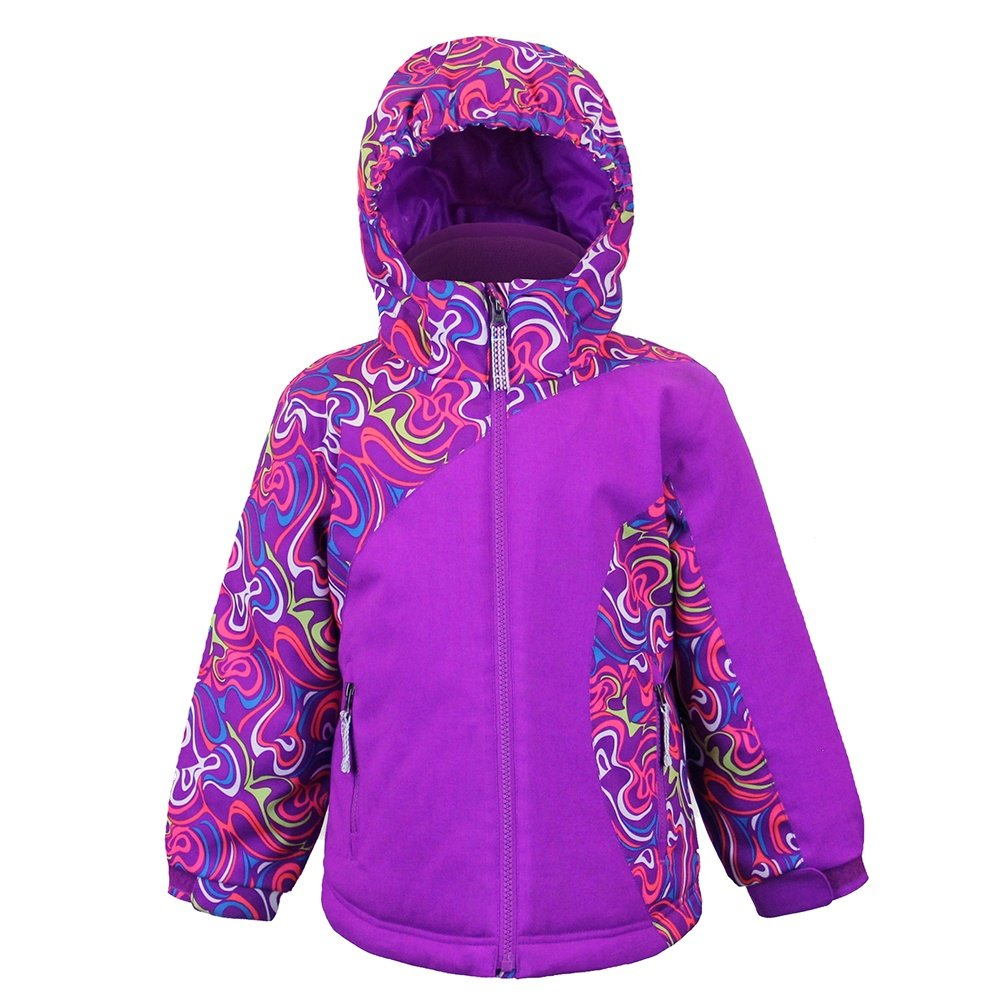 Boulder Gear Whimsical Jacket (Little Girls') - Whirl Print