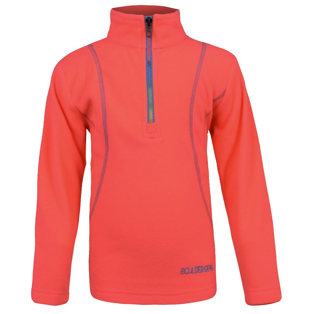 Boulder Gear Chloe Micro Fleece 1/4-Zip Mid-Layer (Little Girls') - Coral Burst