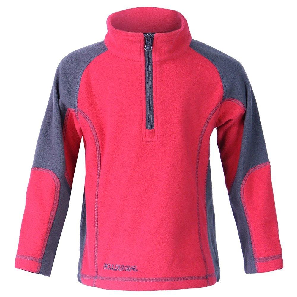 Boulder Gear Mason Micro Fleece 1/4-Zip Mid-Layer (Little Boys') - Crimson Red