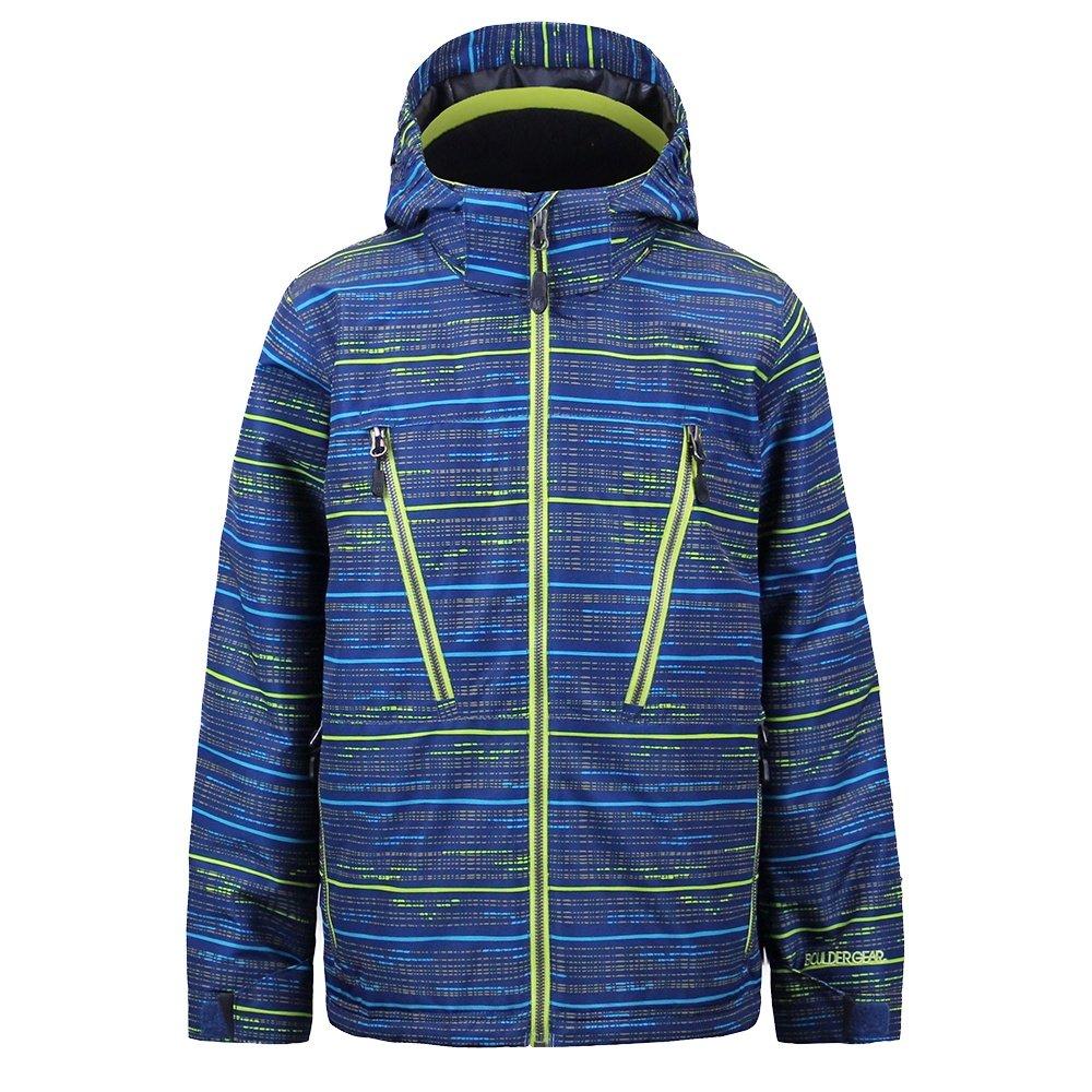 Boulder Gear Motive Jacket (Boys') - Blue Dapper Print