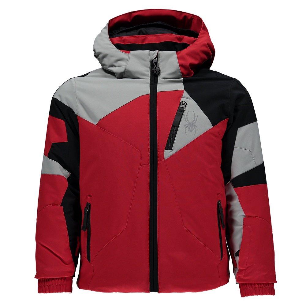 Spyder Mini Leader Jacket (Little Boys') - Red/Limestone/Black