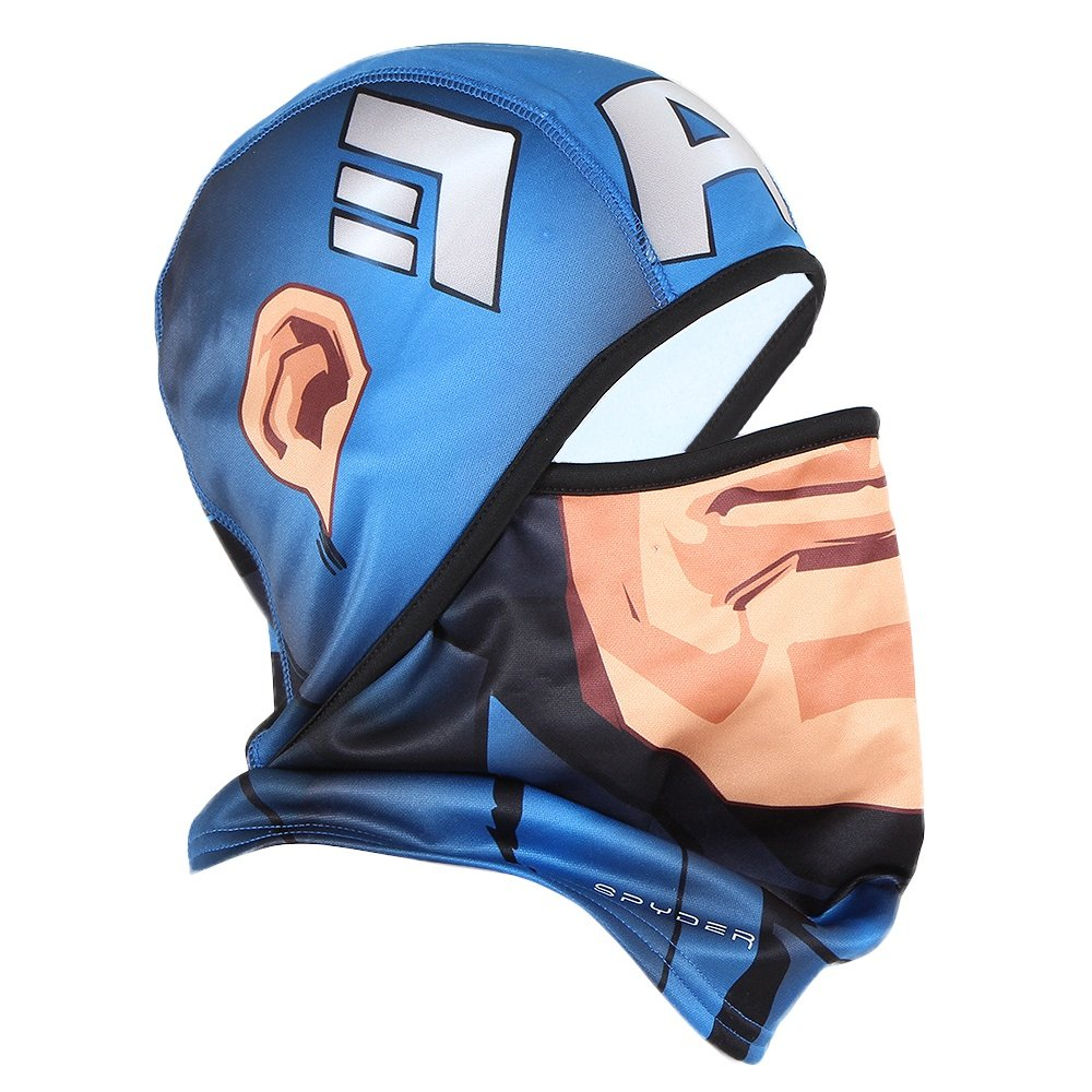 Spyder Marvel T-Hot Facemask (Adults') - French Blue Captain America