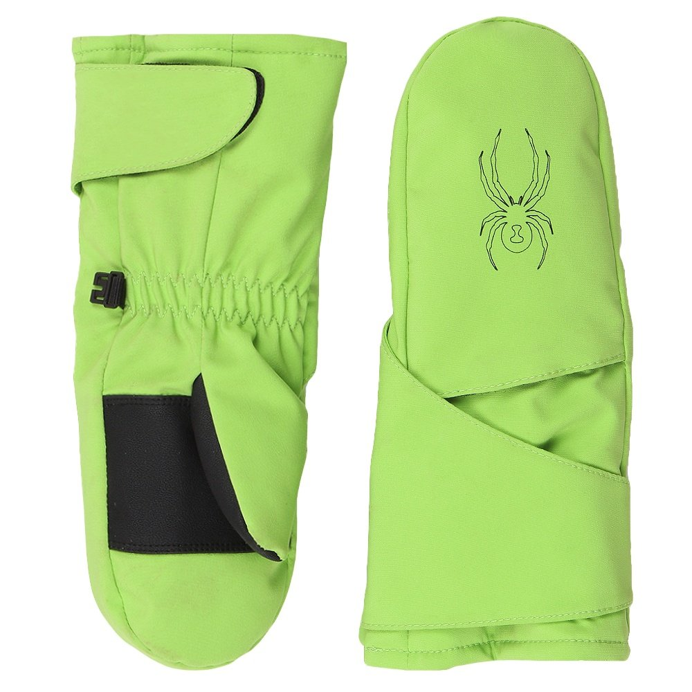 Spyder Mini Cubby Ski Mittens (Little Boys') - Fresh/Black