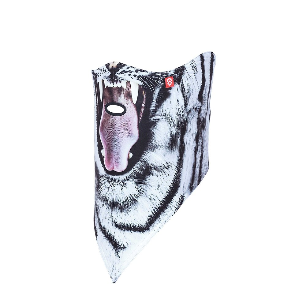 Airhole All Over Logo Standard Facemask - Snow Tiger