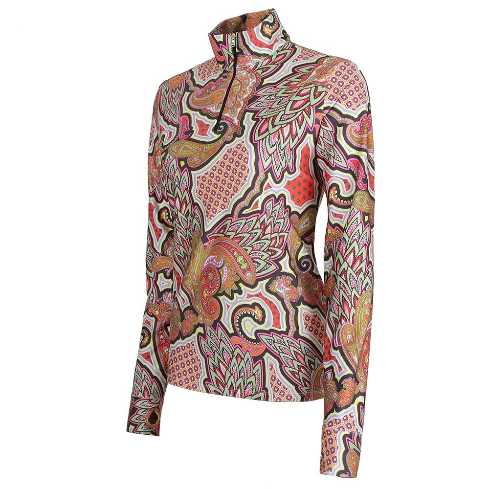 M. Miller Ali Quarter Zip Turtleneck Mid-Layer (Women's) - Paisley