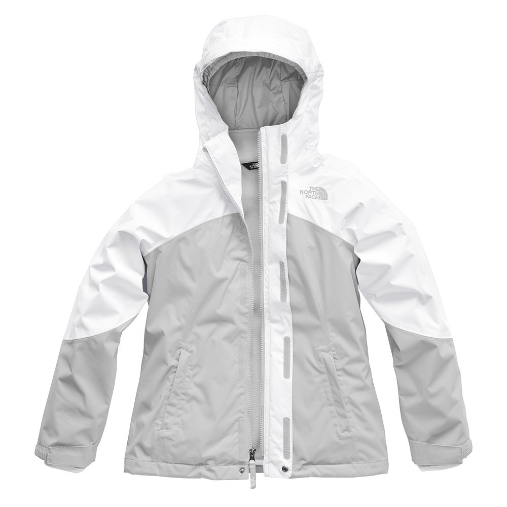 The North Face Mt View Triclimate Ski Jacket (Girls') - TNF White/ High Rise Grey