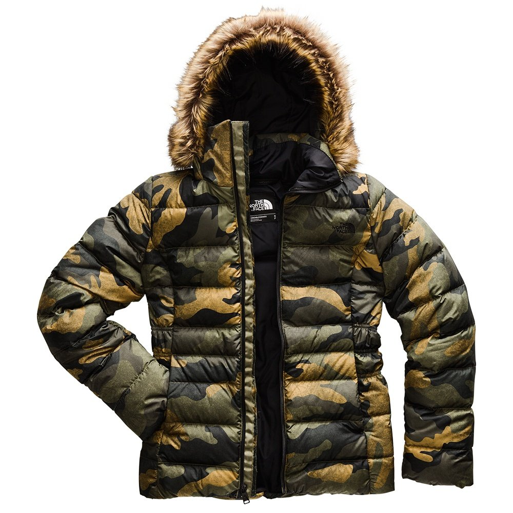 The North Face Gotham II Down Coat (Women's) - Burnt Olive Camo Print