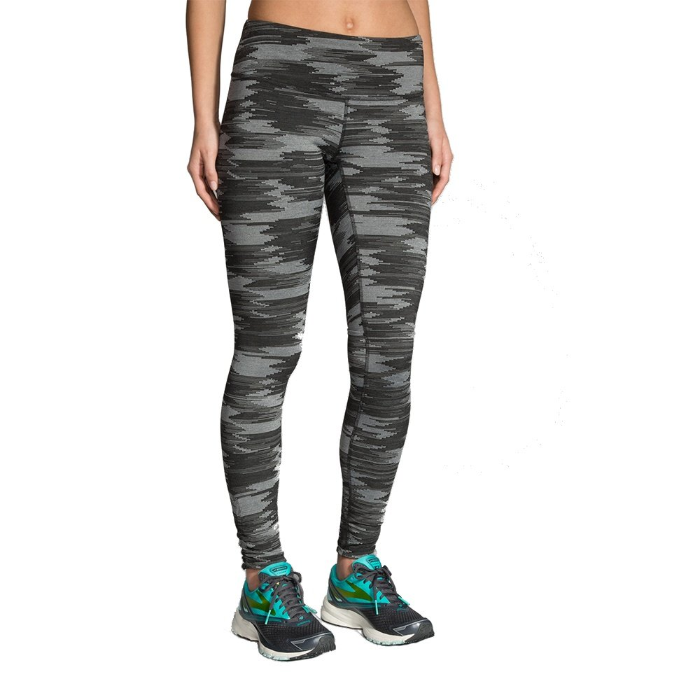 Brooks Greenlight Tight Compression Running Pant (Women's) - Black Jacquard