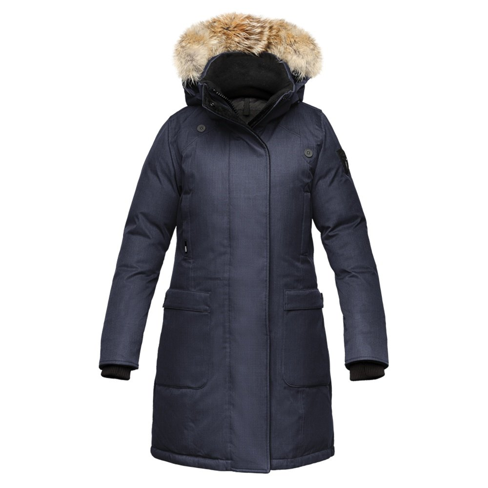 Nobis Merideth Crosshatch Parka Coat (Women's) - Navy