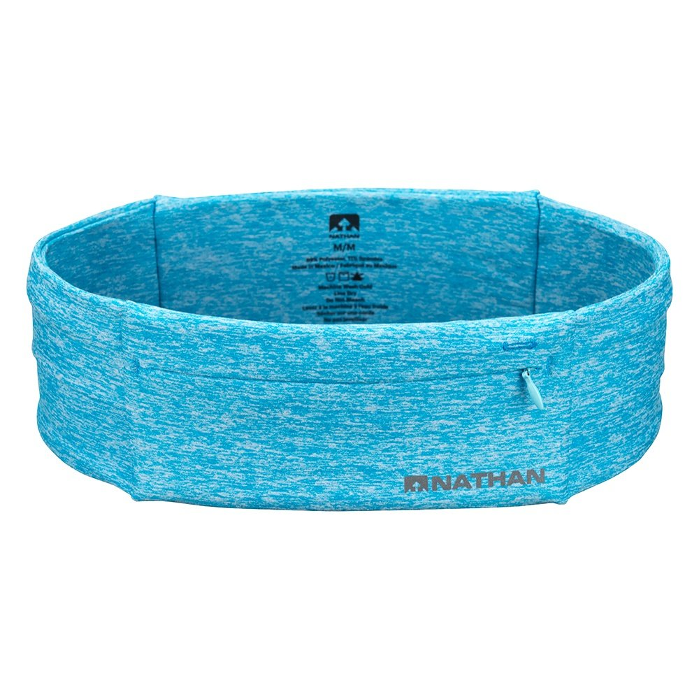 Nathan Zipster Running Belt - Heathered Blue