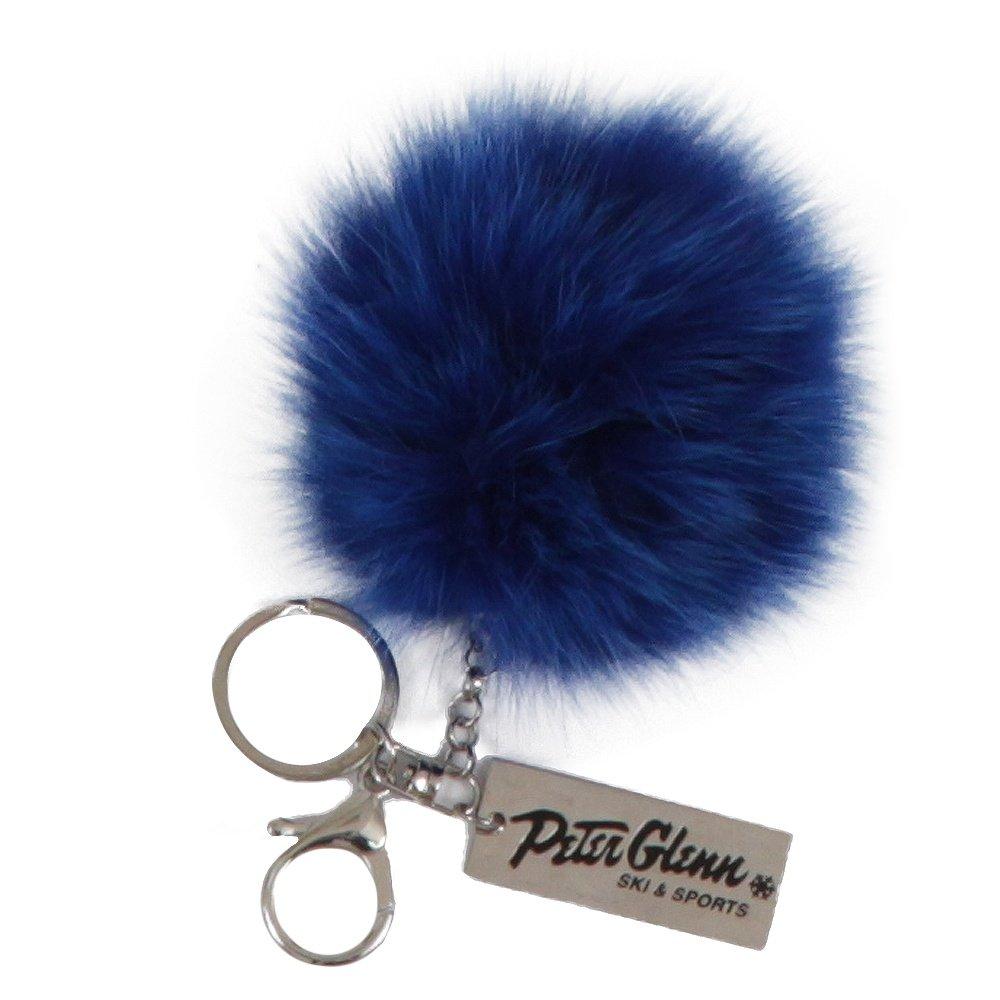 Peter Glenn Fur Pom Pom Keychain - Electric Blue