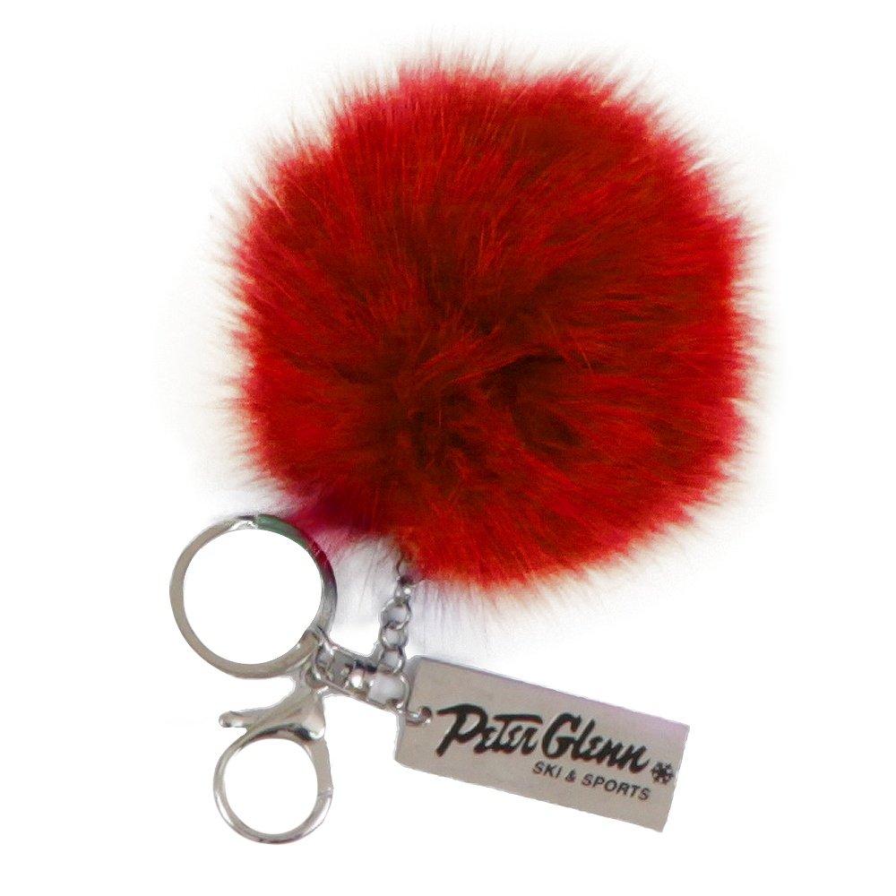 Peter Glenn Fur Pom Pom Keychain - Red