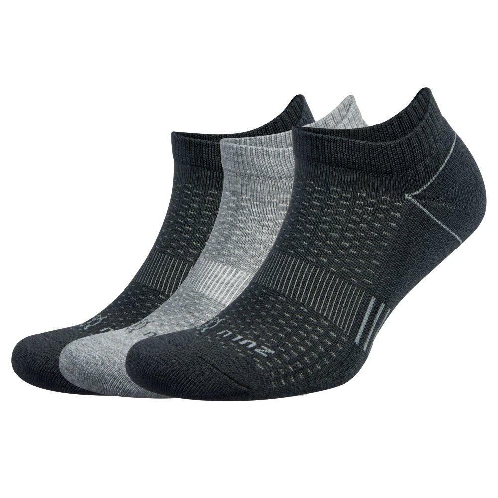 Balega Zulu Quarter Running Sock 3-Pack (Adults') - Black/Grey