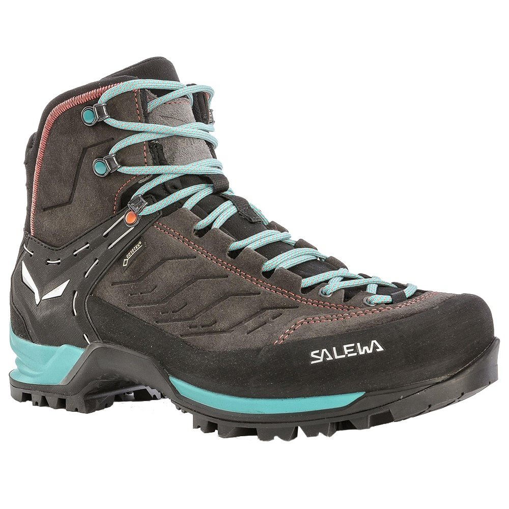 Salewa Mountain Trainer Mid GORE-TEX Hiking Boots (Women's) - Magnet/Viridian Green