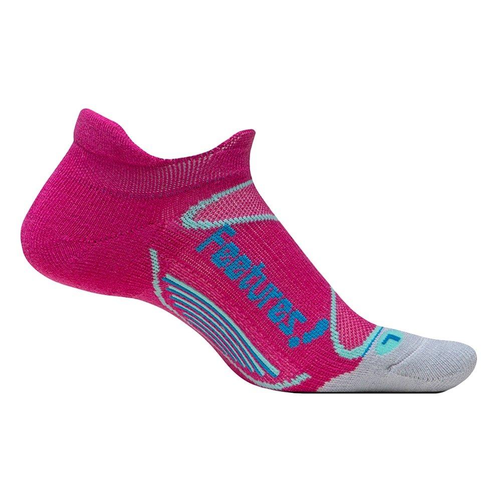Feetures! Elite Merino+ Wool No Show Running Socks (Women's) - Pink/Hyper Blue