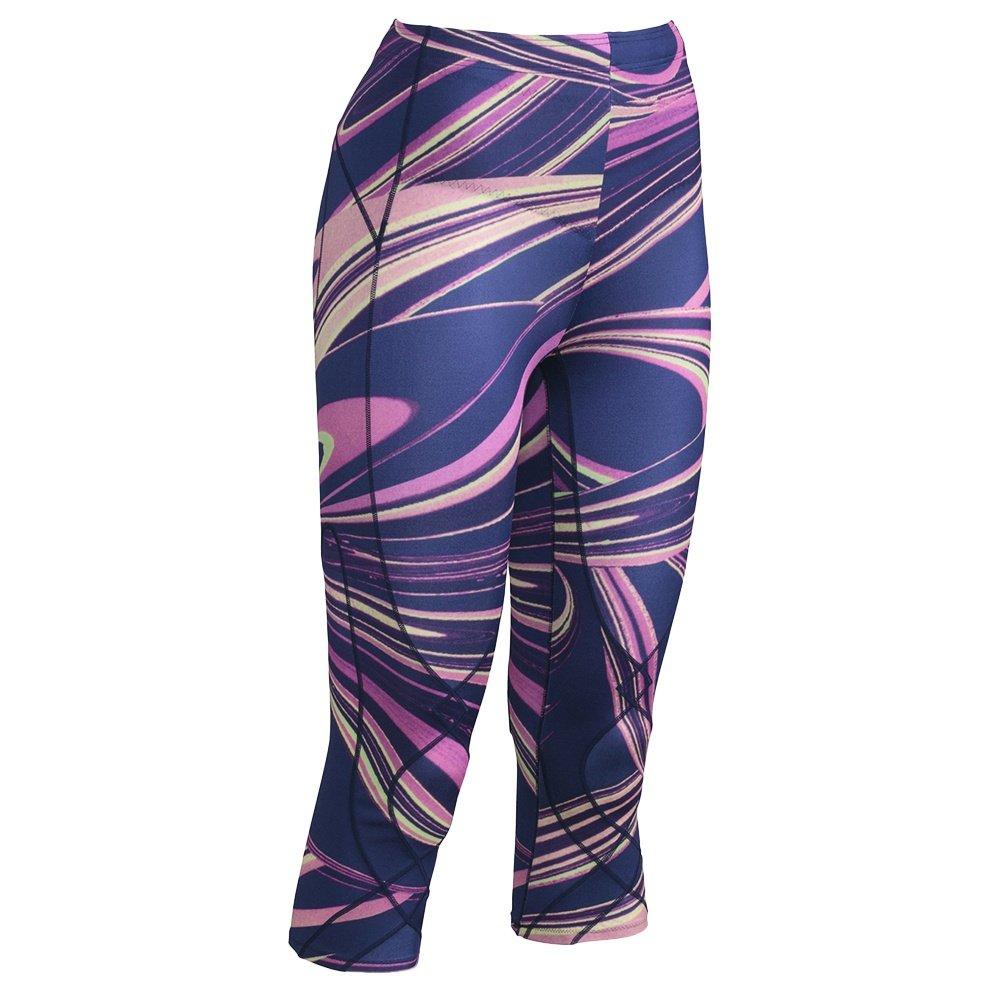 CW-X 3/4 Insulator Stabilyx Baselayer Bottoms (Women's) - Purple Lava Print