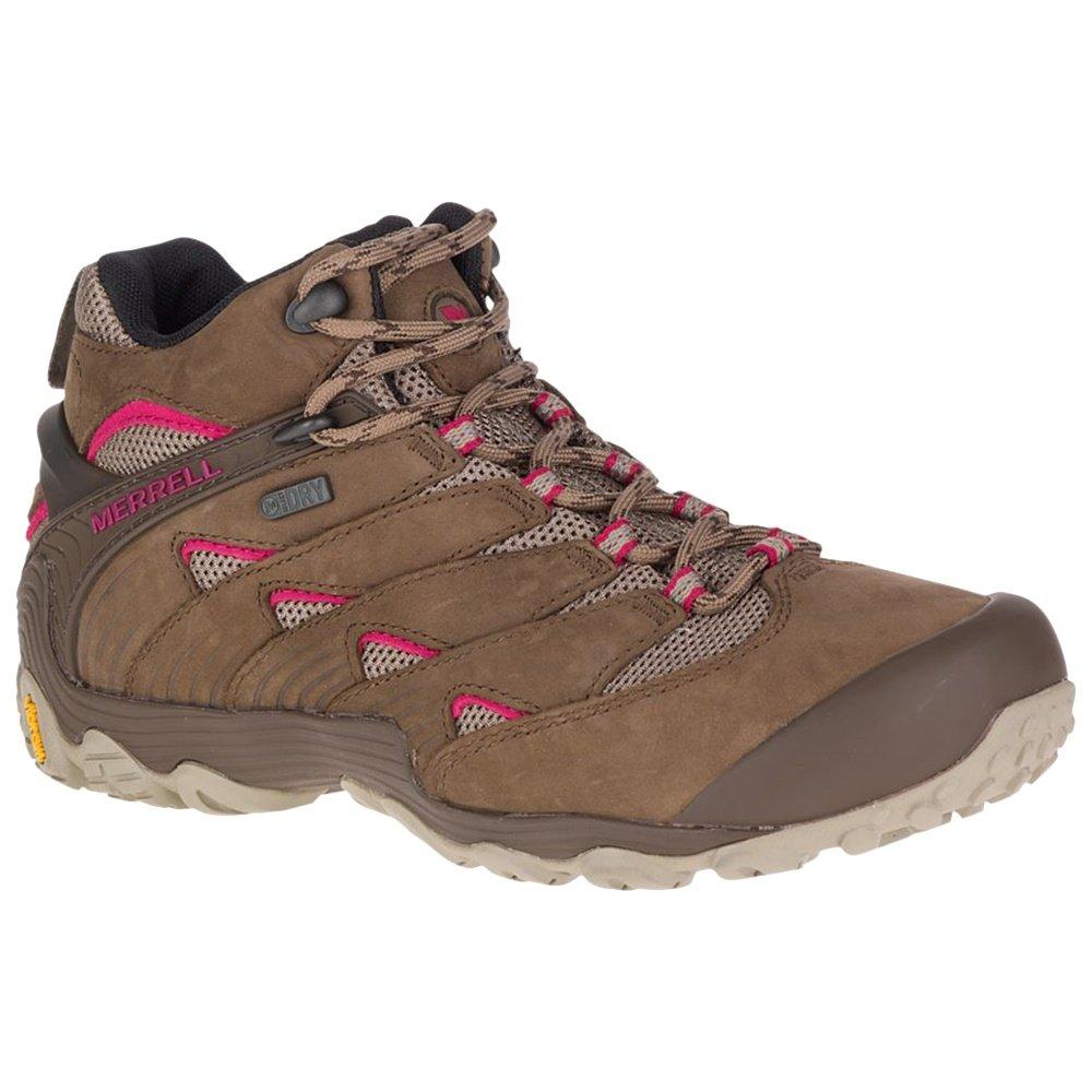 Merrell Chameleon 7 Mid Waterproof Hiking Boots (Women's) - Merrell Stone