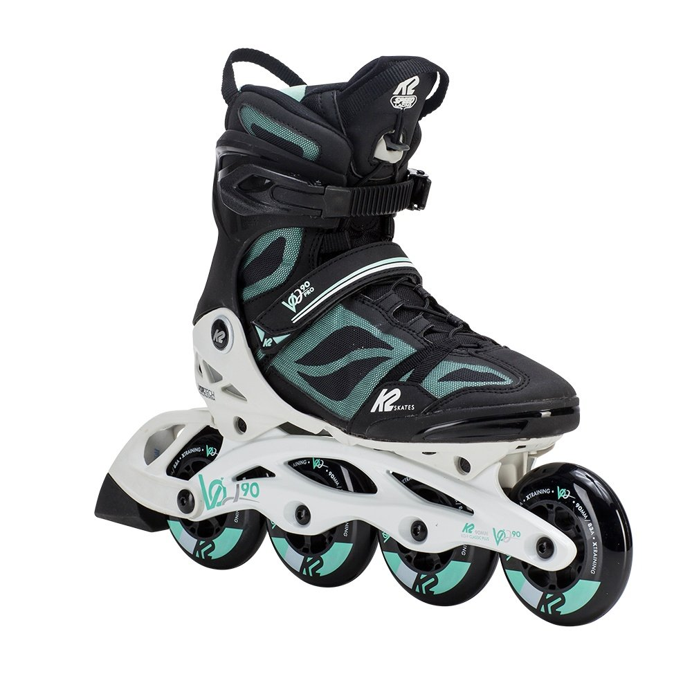 K2 VO2 90 Pro Inline Skates (Women's) - Black/White/Mint