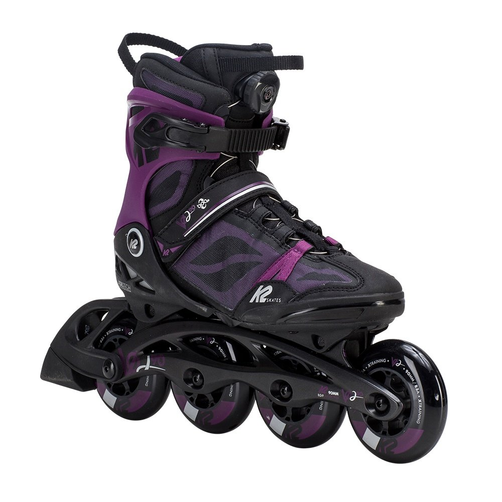 K2 VO2 90 Boa Inline Skates (Women's) - Black/Purple