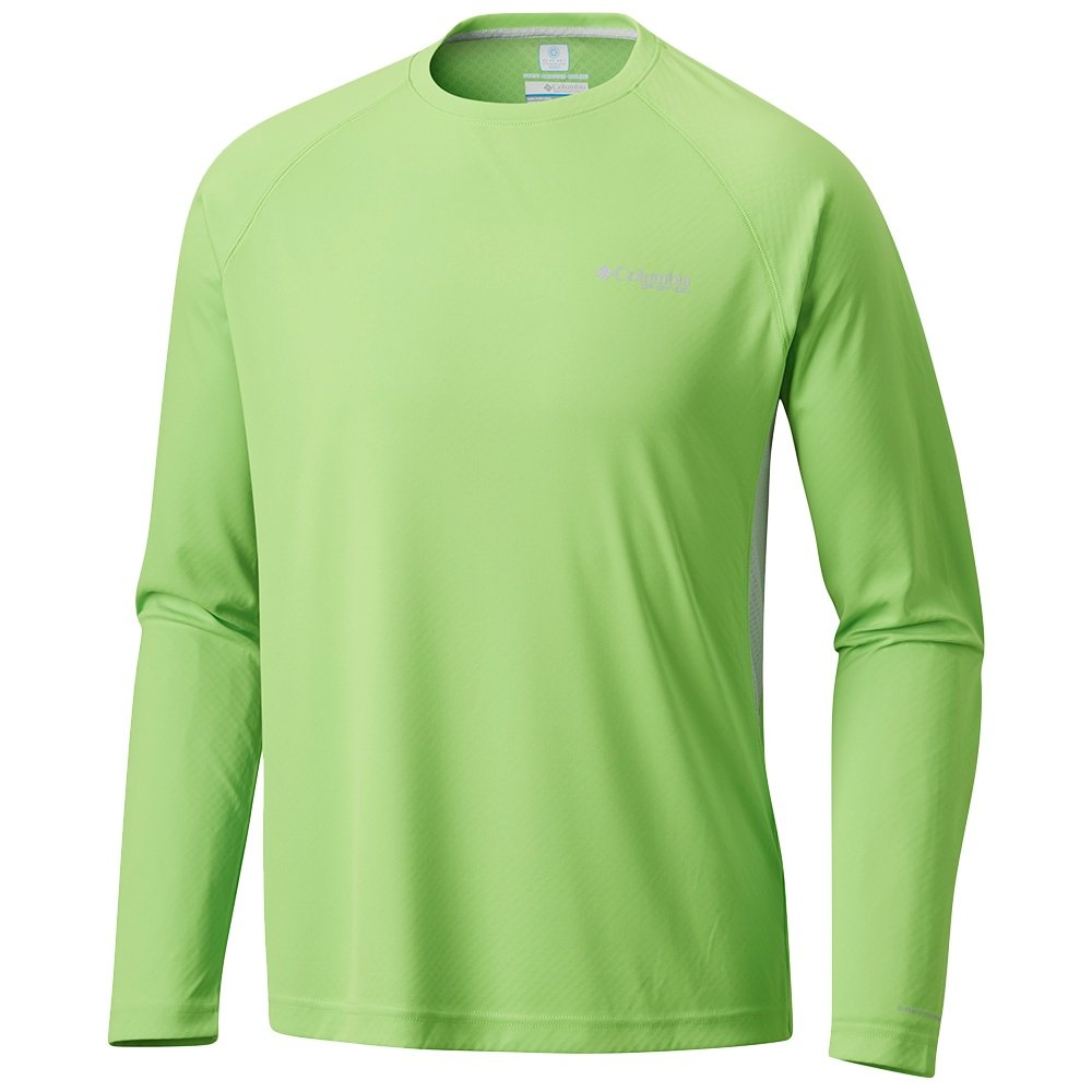 Columbia Cast Away Zero II Knit Long Sleeve Shirt (Men's) - Green Mamba/Black