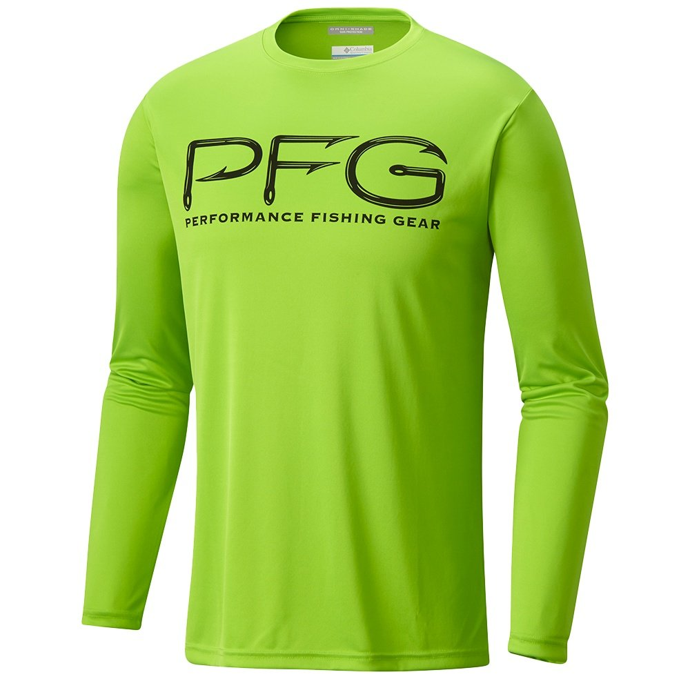Columbia Terminal Tackle PFG Hooks Long Sleeve Shirt (Men's) - Green Mamba/Black