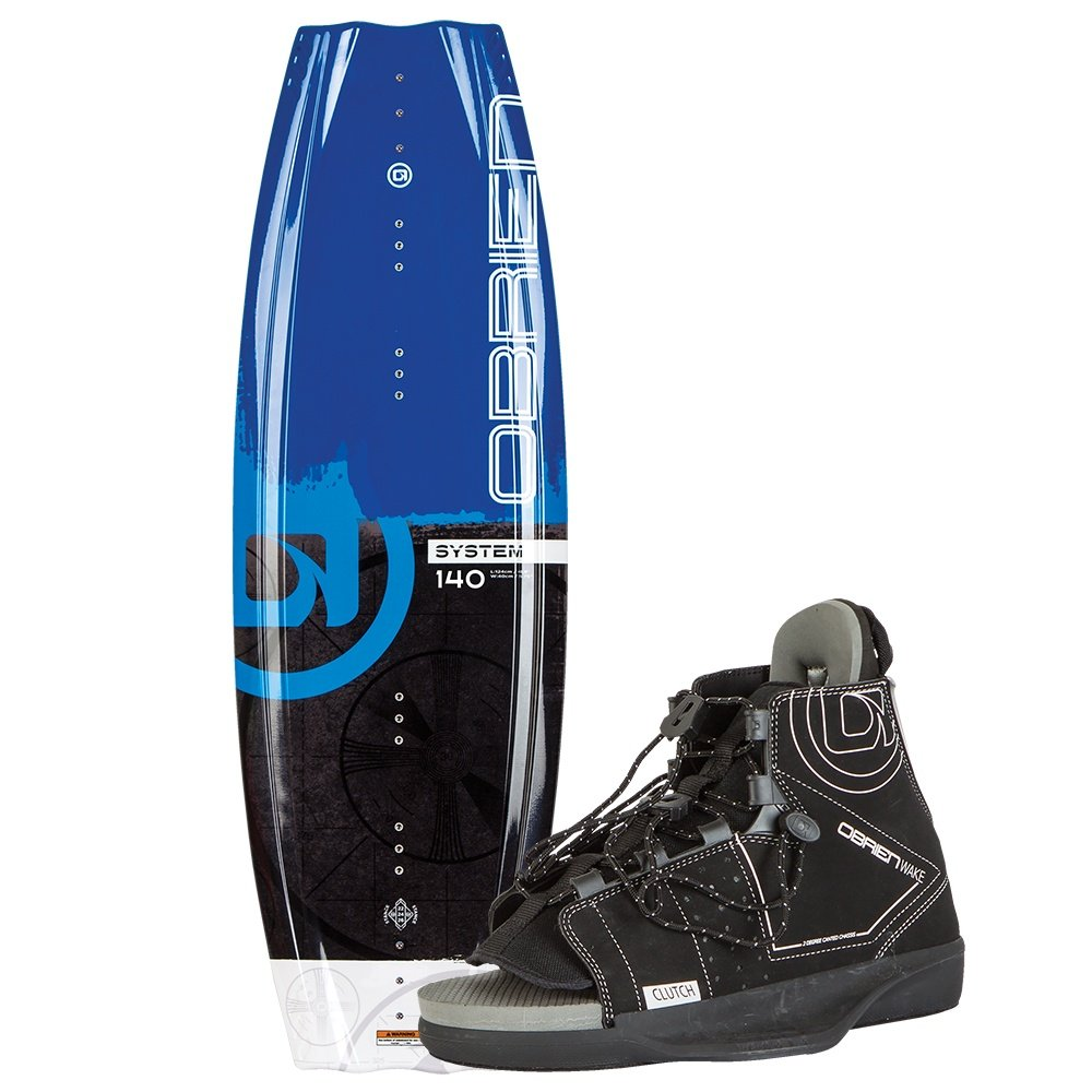 O'Brien 140 System Wakeboard Package with Clutch Boots (Men's) -