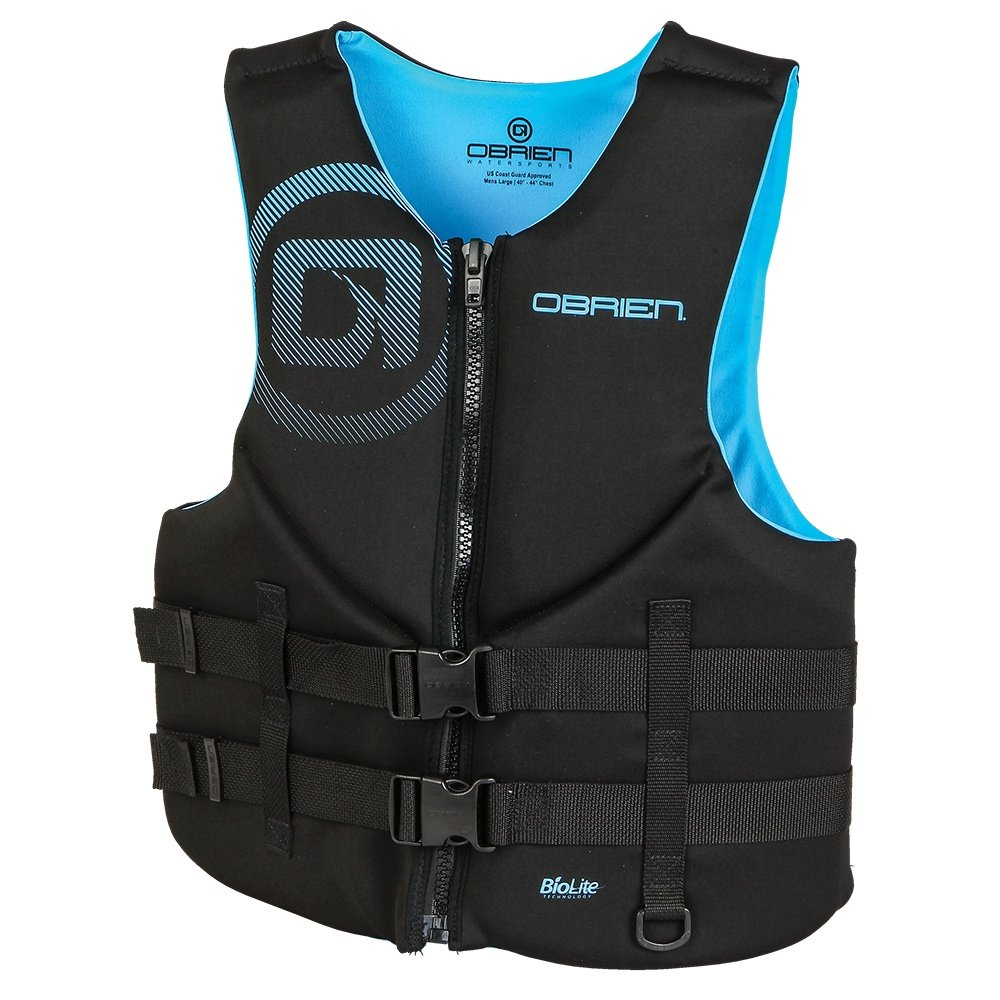 O'Brien Traditional Neoprene Life Vest (Men's) - Cyan