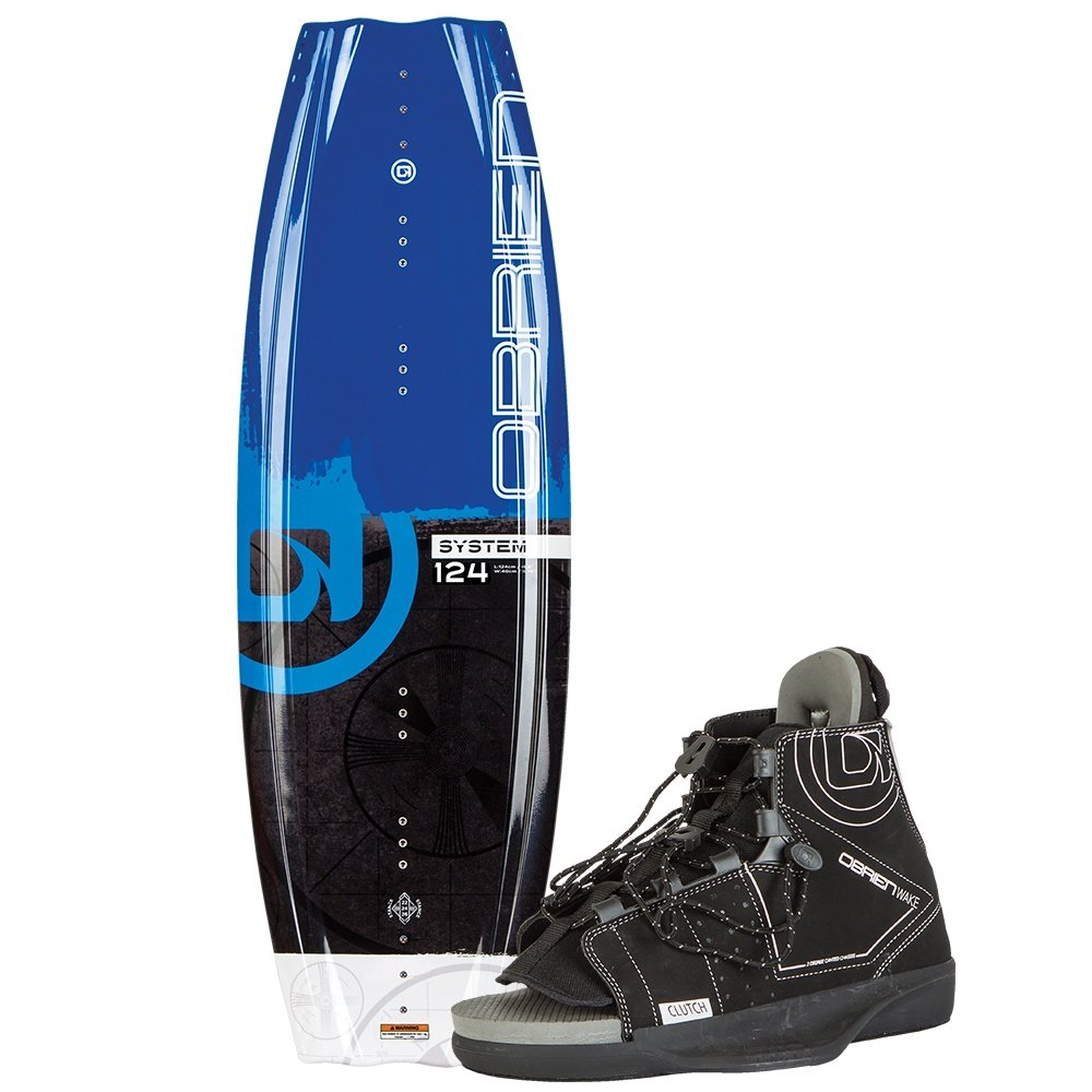 O'Brien 124 System Wakeboard Package with Clutch Boots (Kids') -