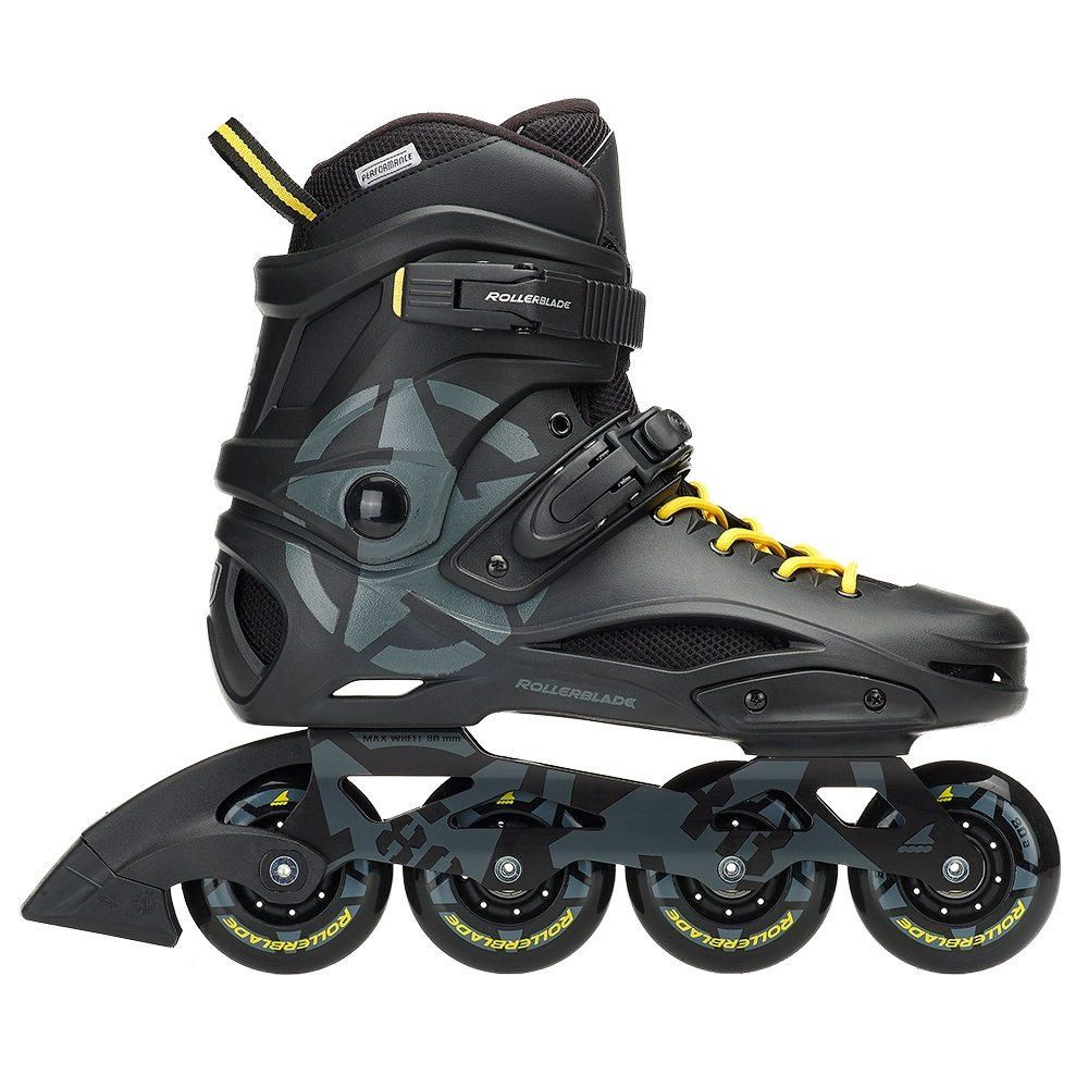 Rollerblade RB 80 Inline Skates (Men's) - Black/Yellow