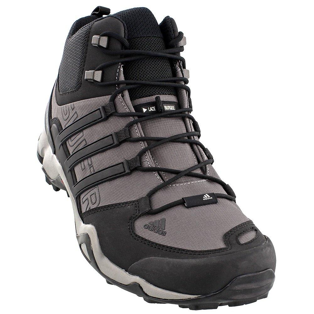 Adidas Terrex Swift R Mid Hiking Boot (Men's) - Granite Black/Solid Gray